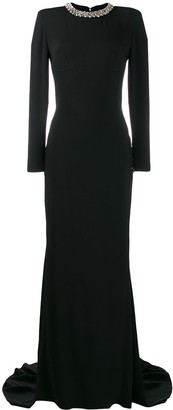 Stella McCartney Jewel Collar Evening Gown