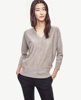 Ann Taylor Extrafine Merino Wool V-Neck Sweater