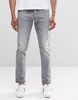 Replay Ronas Slim Jeans Mid Gray Slight Distressing