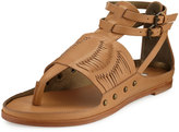 Cynthia Vincent Jinxed Leather Thong Sandal, Natural