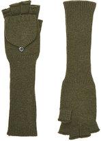 Barneys New York Women's Fingerless Gloves-Dark Green