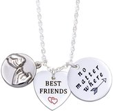 O.RIYA Best Friends No Matter Where Necklaces Heart