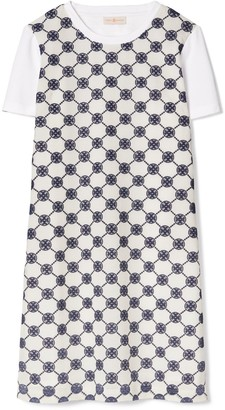 Tory Burch Logo Lace T-Shirt Dress