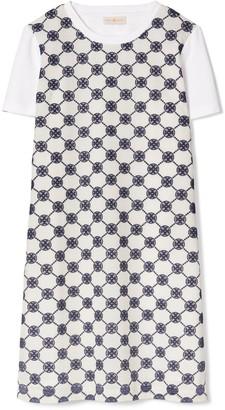 Tory Burch Logo Lace T-Shirt Dress