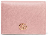 Gucci Textured-leather Wallet - Pastel pink
