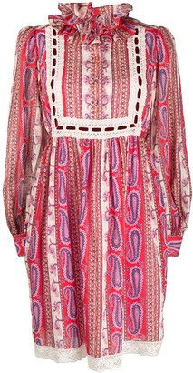 Marc Jacobs Paisley-Print Prairie Dress