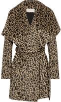 MICHAEL Michael Kors Leopard-print Faux Fur Wrap Coat - Leopard print