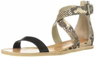 Dolce Vita Women's Nolen Flat Sandal black/multi leather 6 M US