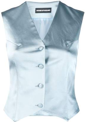 House of Holland classic fitted waistcoat