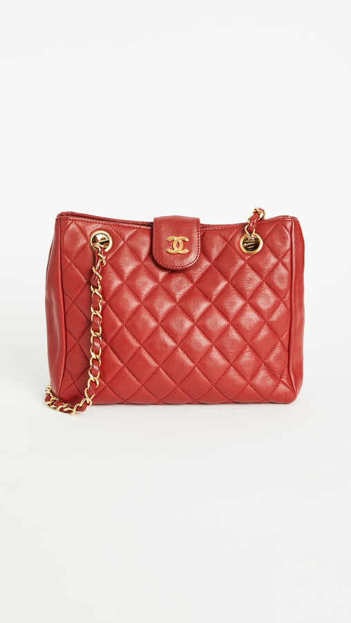 What Goes Around Comes Around Chanel Rd Lambskin Shoulder Small