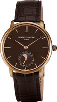 Frederique Constant Fc705c4s9 Classics Manufacture Slimline 18ct Rose-gold And Alligator-leather Moonphase Watch