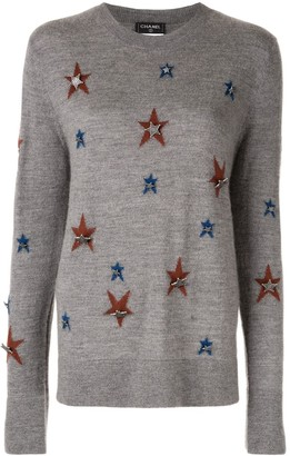 Chanel Pre Owned Star Motif Jumper