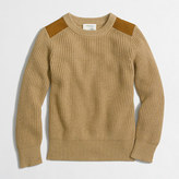 J.Crew Factory Boys' shoulder-patch crewneck sweater