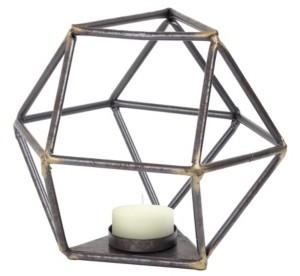 Crystal Art Gallery American Art Decor Geometric Tealight Candle Holder Triangular Base Table Top Sculpture