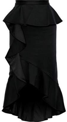 Alice + Olivia Alessandra Ruffled Cotton-blend Peplum Skirt