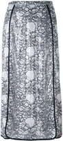 Marco De Vincenzo embellished polyester midi-length skirt - women - Polyamide/Polyester/Viscose - 40