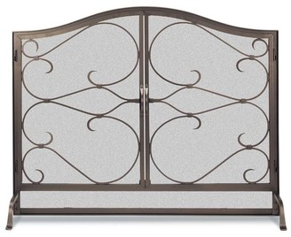 Pottery Barn Iron Gate Fireplace Arched Door Screen