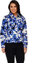 Liz Claiborne New York Floral Print Long Sleeve Jean Jacket