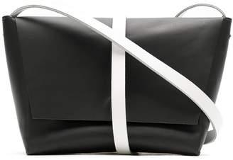 Gloria Coelho bicolor leather belt