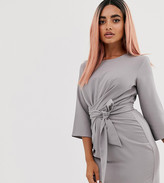 Asos DESIGN Petite tie wrap around mini dress