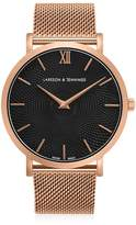 Larsson & Jennings Lugano Sloane 40mm Rose Gold Black Watch