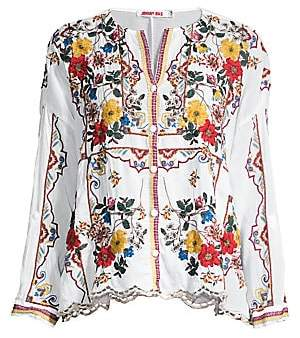 Johnny Was Women's Cabo Embroidered Blouse