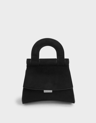 Charles & Keith Mini Textured Top Handle Pouch Bag