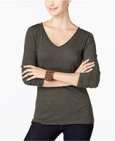 INC International Concepts V-Neck Top, Only at Macy's
