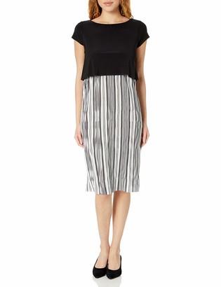Tiana B Women's Shortsleeve Popver Dress with Pleated Skirt