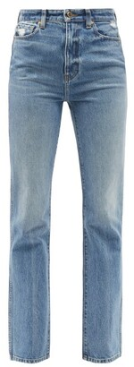 KHAITE Danielle Straight-leg Cotton Jeans - Light Blue
