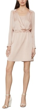 BCBGMAXAZRIA Satin Surplice Dress