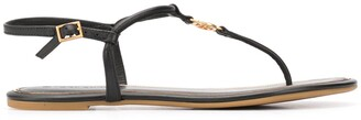 Tory Burch Logo Medallion Strappy Sandals