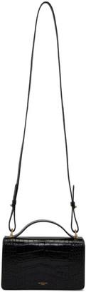 Givenchy Black Croc GV3 Wallet Bag