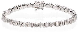 Suzanne Kalan 18K white gold diamond Fireworks tennis bracelet