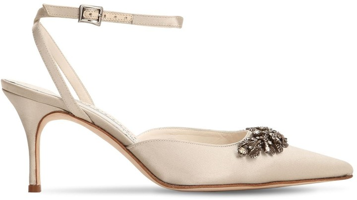 Thumbnail for your product : Manolo Blahnik 70mm Forla Satin Sandals