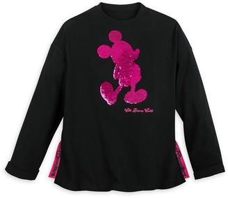 Disney Mickey Mouse Reversible Sequin Sweatshirt for Women - Walt World - Black