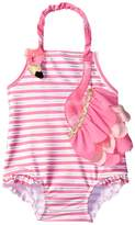 Mud Pie Flamingo Ruffle Swimsuit (Infant/Toddler)