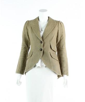 Smythe Brown Linen Jacket for Women