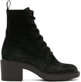 Thumbnail for your product : Gianvito Rossi Navy Suede Foster Lace-Up Boots