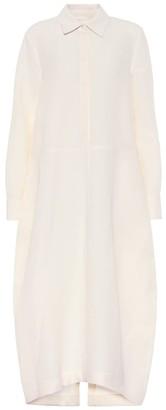 Jil Sander Cotton and silk shirt dress