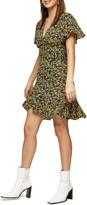 Topshop IDOL Ditsy FLoral Tea Minidress