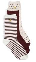 Kate Spade Women's Assorted 3-Pack Crew Socks