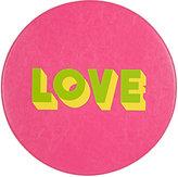 """Lisa Perry Reversible """"Love"""" Circular Placemat"""
