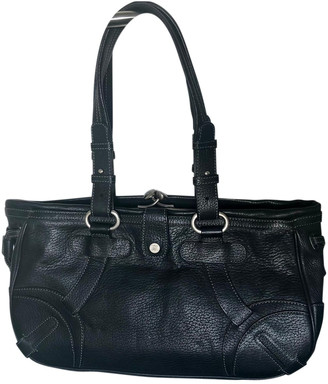 Celine Hobo Black Leather Handbags