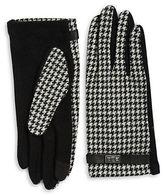 Lauren Ralph Lauren Wool and Cashmere-Blend Houndstooth Touch Gloves