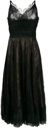 Rochas layered lace midi dress