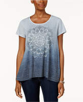 Style&Co. Style & Co Ombre Printed T-Shirt, Created for Macy's