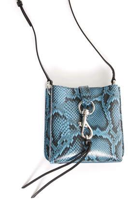 Rebecca Minkoff Snake Megan Mini Feed Bag Blue Multi 1 Size