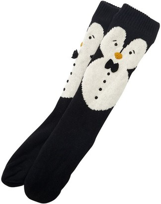 Indigo PENGUIN READING SOCKS BLACK