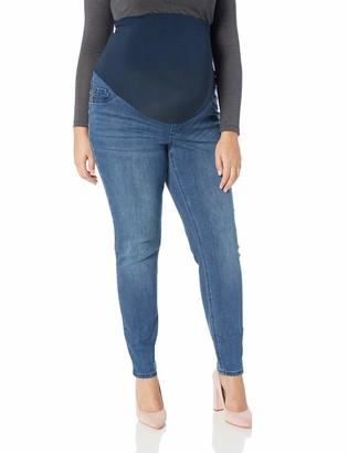 Motherhood Maternity Women's Maternity Indigo Blue Super Stretch Secret Fit Belly Skinny Denim Jean